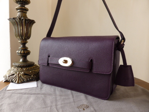 Mulberry Bayswater Shoulder in Aubergine Grainy Calf Leather - SOLD