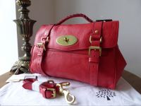Mulberry Regular Alexa in Watermelon Soft Buffalo Leather - New