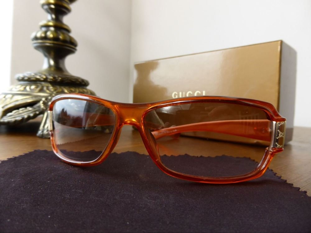 Gucci Guccissima Detail Sunglasses in Amber