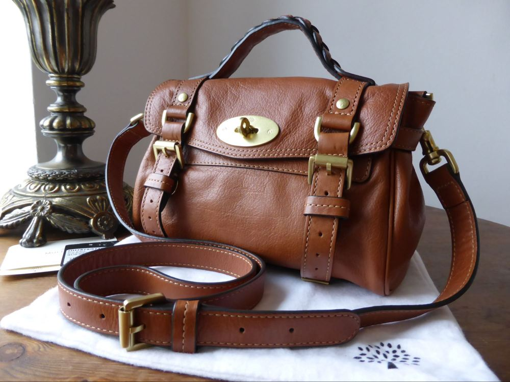 Mulberry Mini Alexa in Oak Soft Buffalo