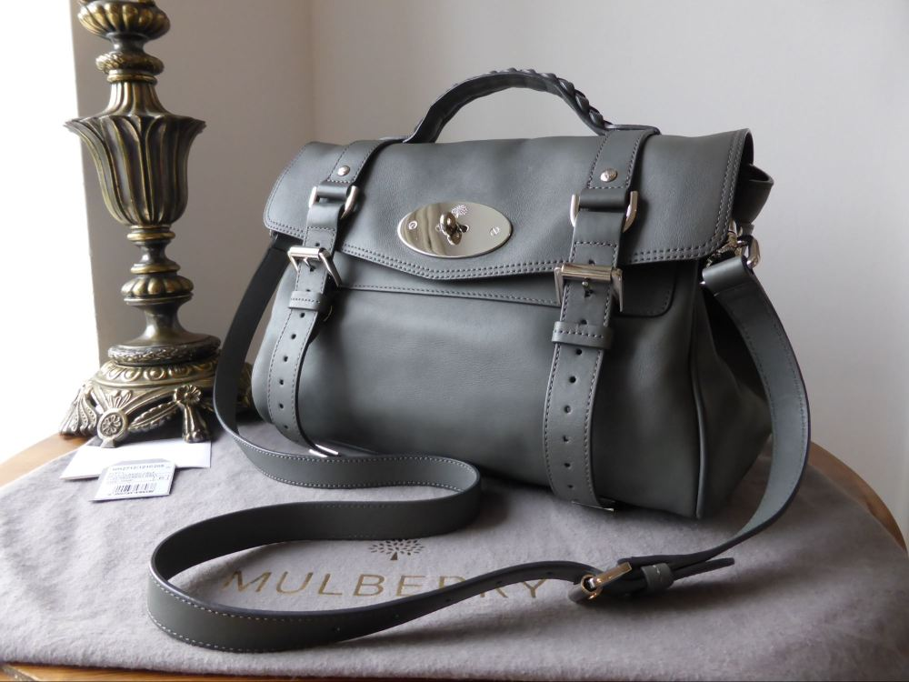 Mulberry Regular Alexa in Pavement Grey Silky Classic Calf