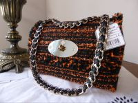 Mulberry Cecily in Flame Exotic Tweed - New