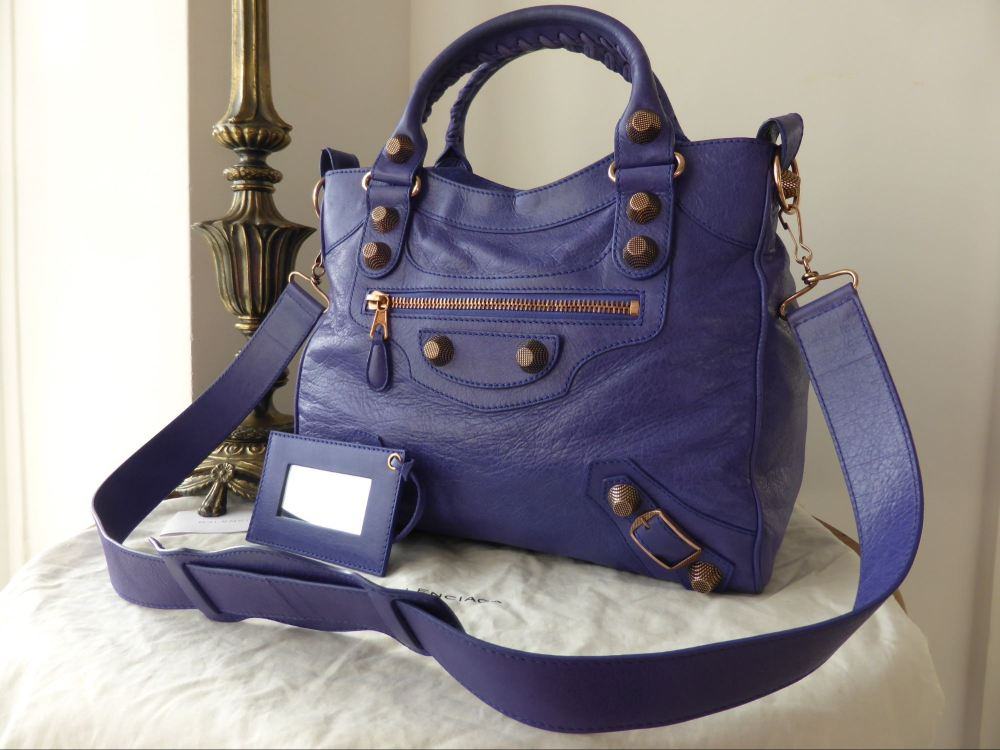 Balenciaga Giant 21 Rose Gold Velo in Bleu Lavande