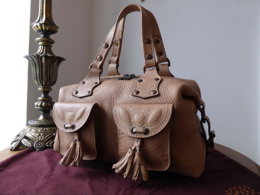 Mulberry Tassle Selma in Nude Glove Leather - New