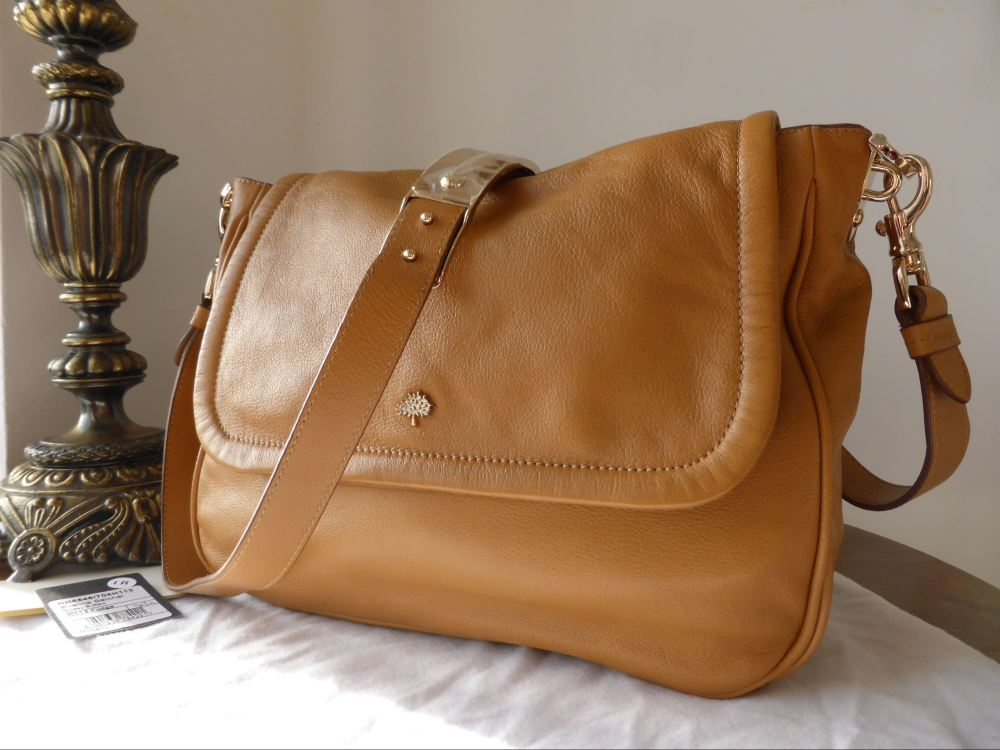 Mulberry Evelina Satchel in Fudge Glossy Buffalo Leather - New