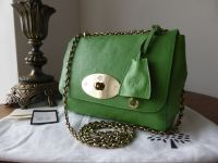 Mulberry Lily (Regular) in Grass Green Glossy Goat Leather