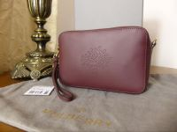 Mulberry Blossom Pochette with Wristlet and Shoulder Strap in Oxblood Calf Nappa - New
