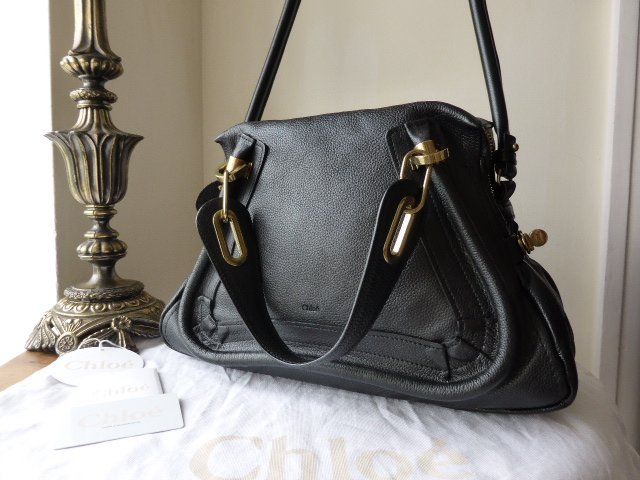 Chloe Paraty Medium in Black Calfskin