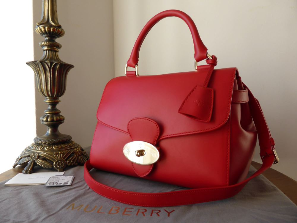 Mulberry Primrose in Bright Red Polished Calf - As New*