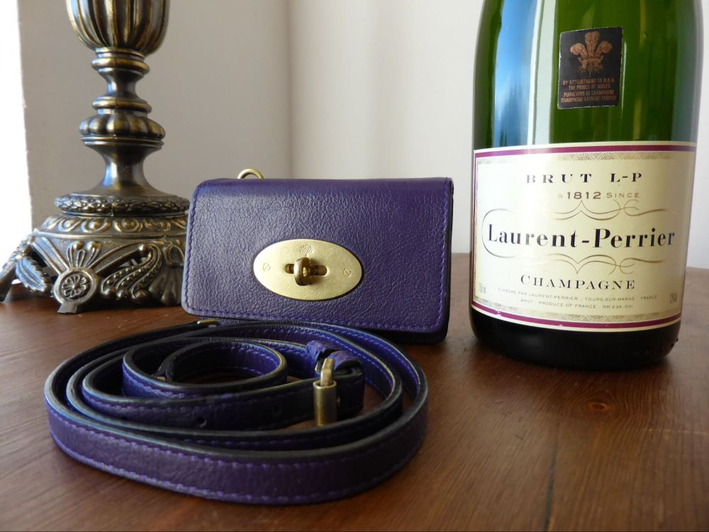 Mulberry Bayswater Mini Messenger for iPhone in Grape Soft Buffalo