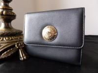 Versace Vanitas Bifold Wallet in Black Calfskin