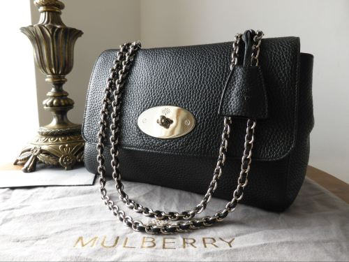 1262fd3efa ... discount mulberry lily medium in black soft grain leather with nickel  hardware sold 03b52 1c21f
