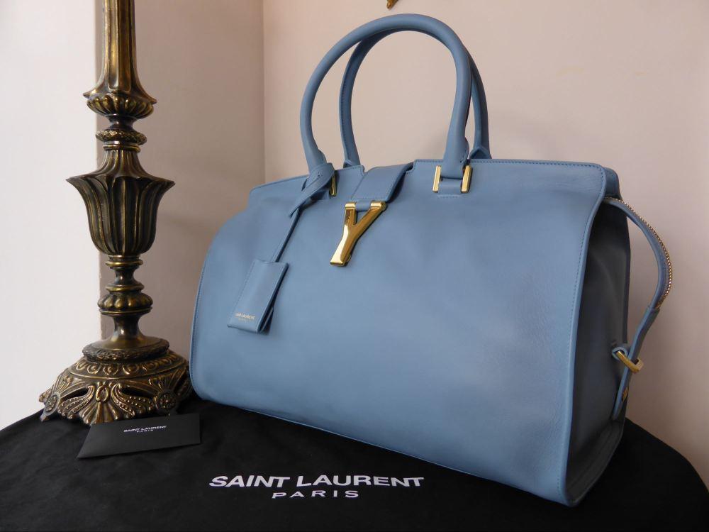 Saint Laurent Cabas Chyc Shopper, (Medium) in Glacier Blue