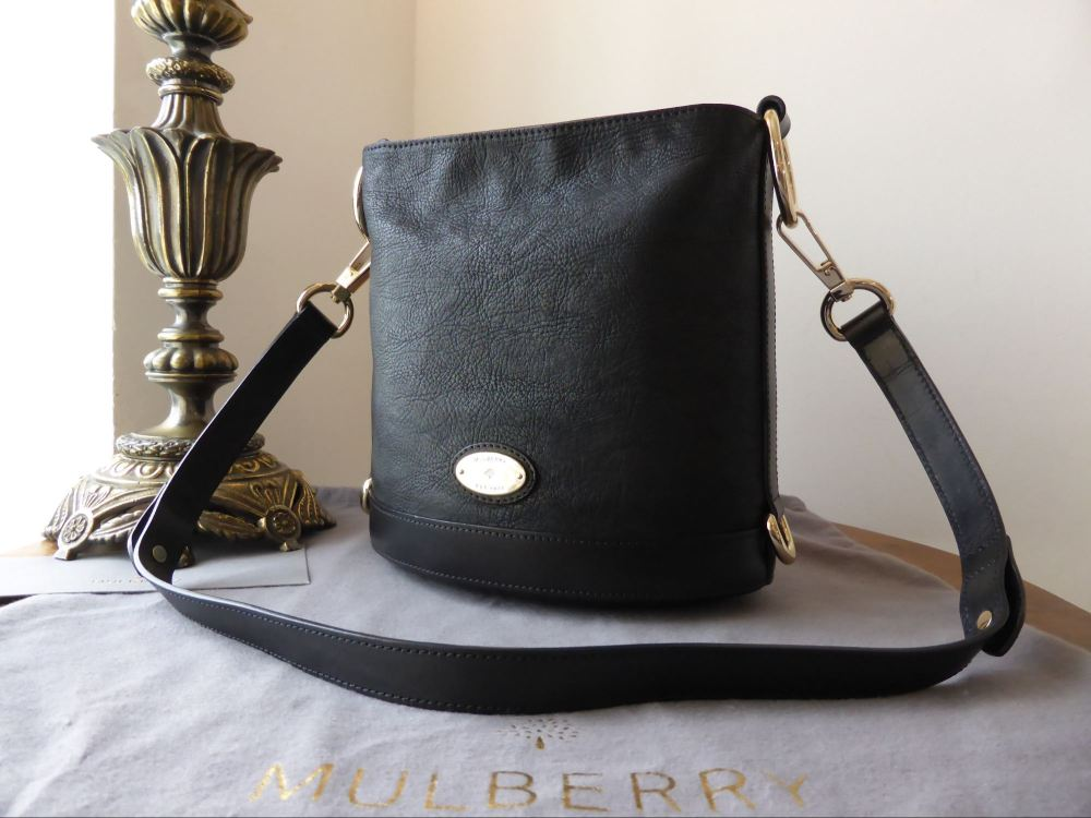 348a9486e4 Mulberry Jamie (Small) in Black Washed Calf - SOLD