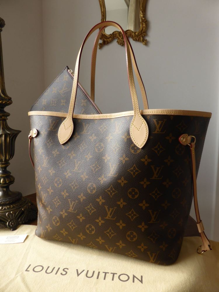 Louis Vuitton Neverfull MM Rose Ballerine Monogram