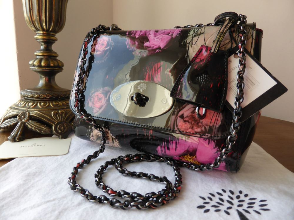 Mulberry Lily in Scribbly Floral Patent Leather - New*