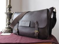 Mulberry Alfie Large Messenger in Chocolate Pebbled Leather