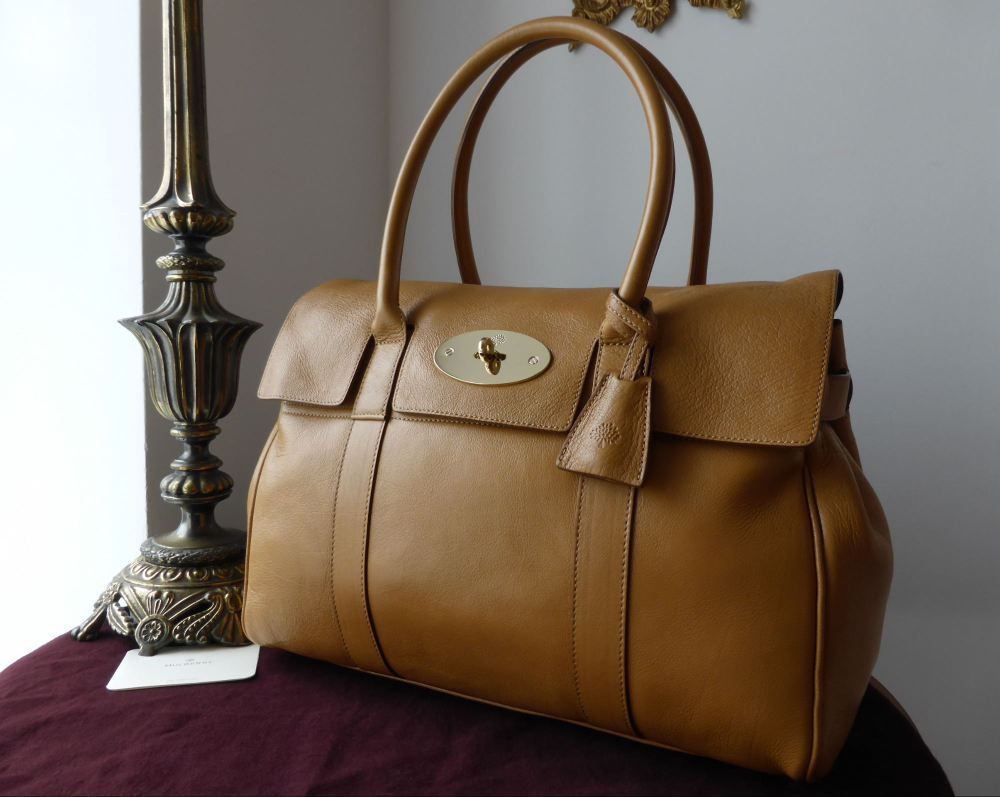 Mulberry Bayswater in Fudge Glossy Buffalo Leather - As New