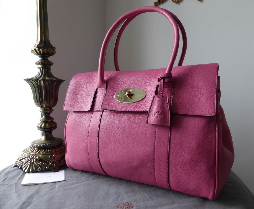 Mulberry Bayswater in Raspberry Glossy Goat Leather - New
