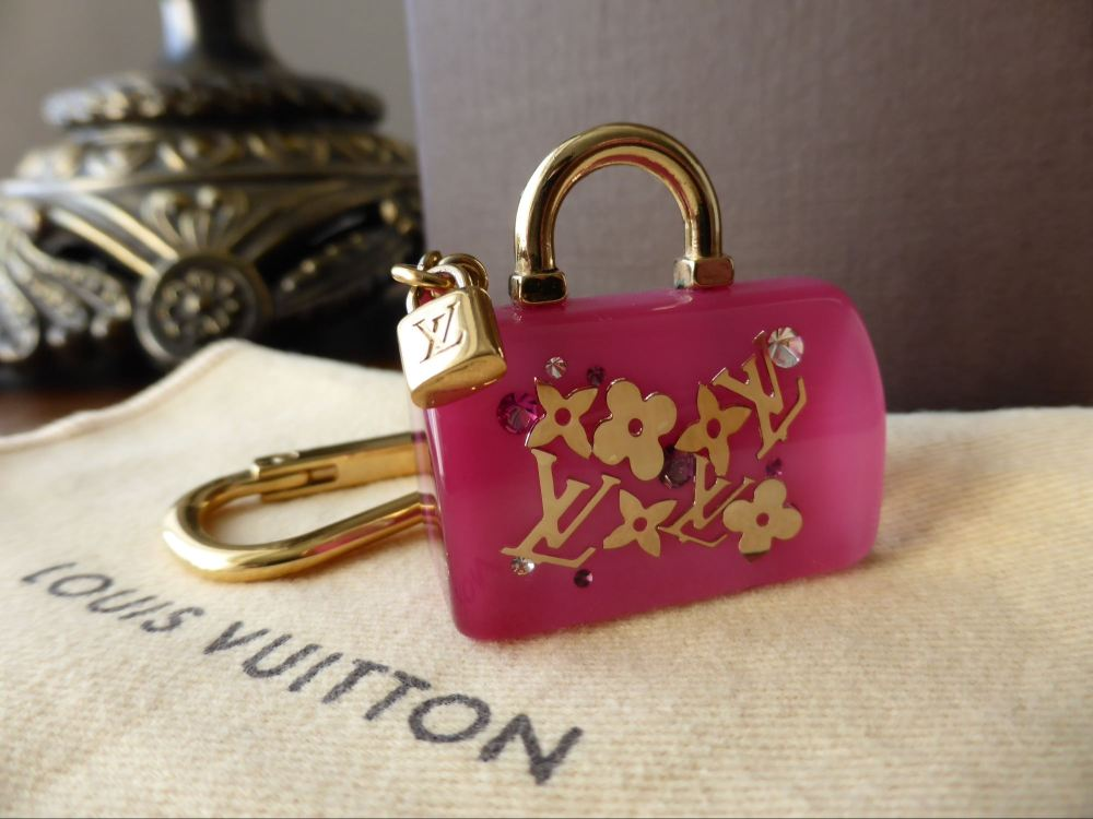 Louis Vuitton Speedy Inclusion Keyring Bag Charm in Framboise