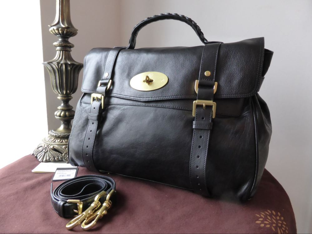 Mulberry Oversized Alexa in Black Buffalo Leather ref 2