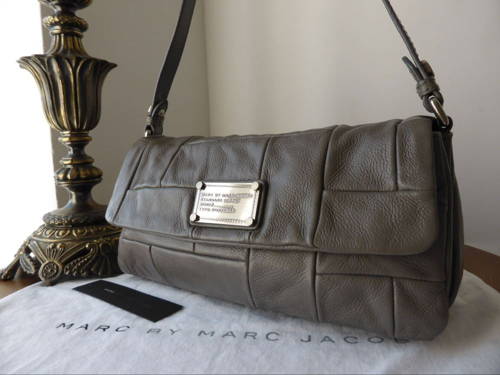 Marc by Marc Jacobs Dr Q Convertible Shoulder Clutch in Mouse Grey