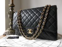 b8de840d53bb Chanel Timeless Classic 2.55 Maxi Flap Bag in Black Caviar with Gold  Hardware - SOLD