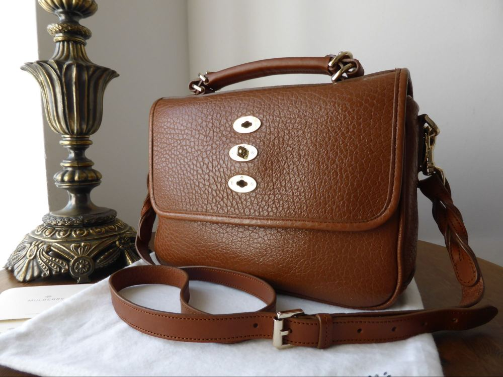 Mulberry Bryn in Oak Shiny Grain Leather