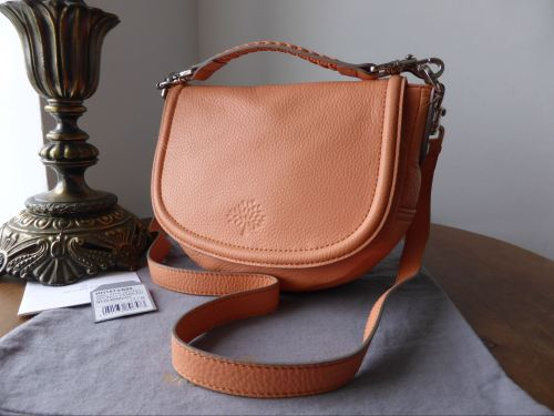 28fd97bfba Mulberry Small Effie Satchel in Apricot Spongy Pebbled Leather - As new