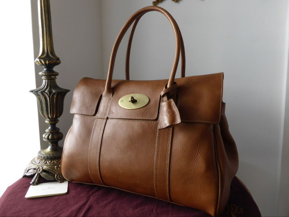 Mulberry Bayswater in Oak Natural Leather with Brass Hardware
