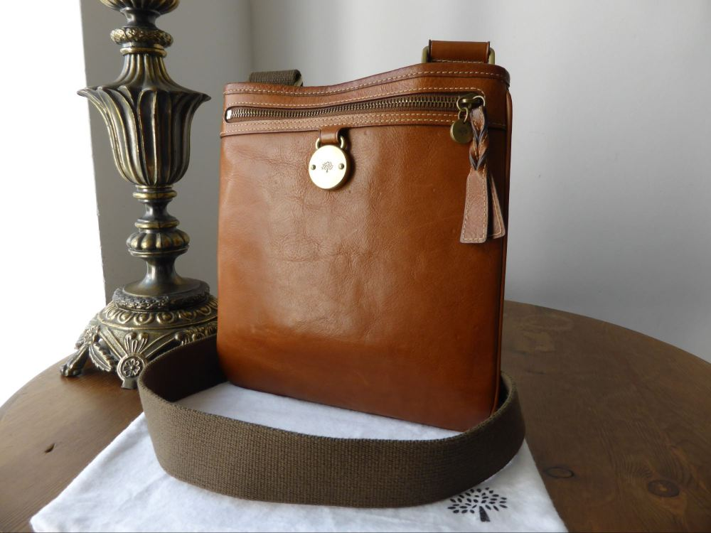 Mulberry Somerset Messenger in Oak Tumbled Leather