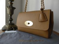 Mulberry Lily Medium in Deer Brown Grainy Print Leather