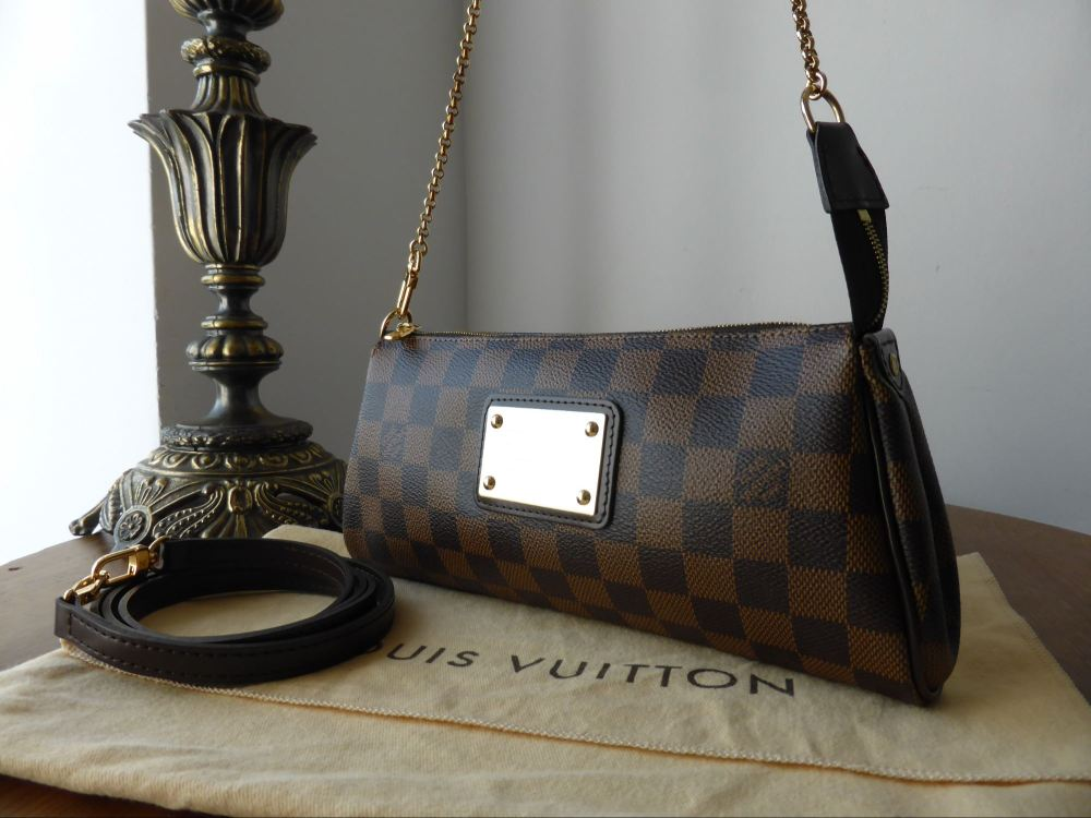 Louis Vuitton Eva Shoulder Clutch in Damier Ebene