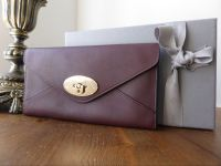 Mulberry Envelope Continental Wallet in Oxblood Silky Classic Calf