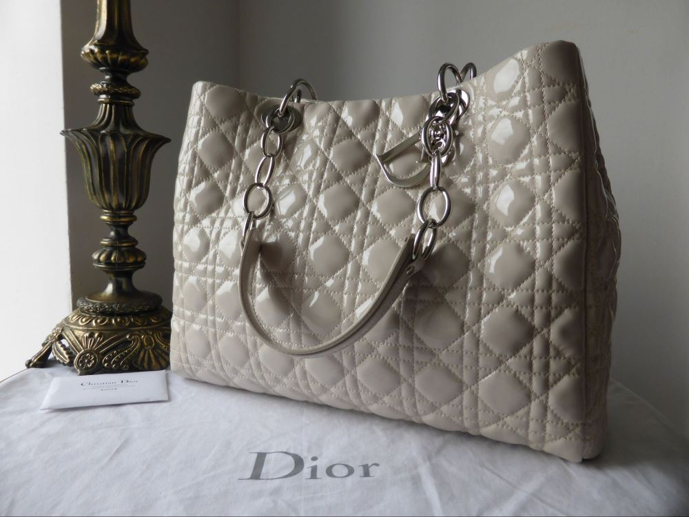 Dior Soft Large Shopping Tote in Linen Patent - As New*