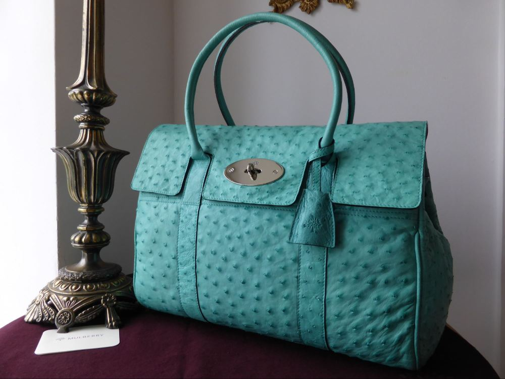 Mulberry Bayswater in Jade Green Ostrich Leather (sub)