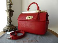 Mulberry Small Suffolk in Poppy Red Shrunken Calf Leather - New