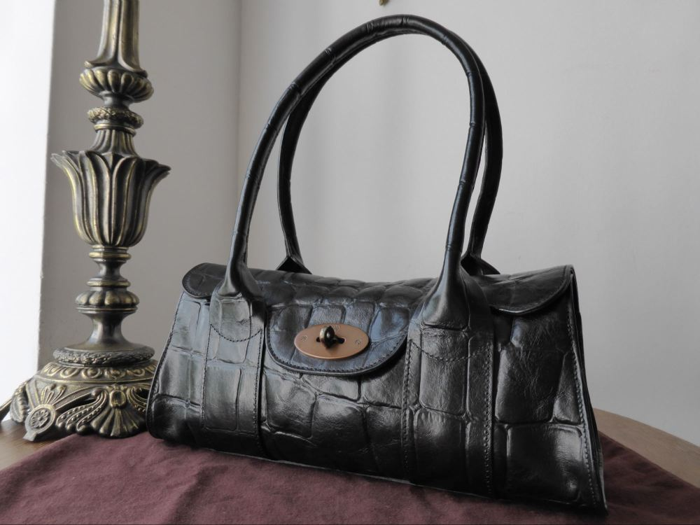 b48f26310047 Mulberry Vintage Gosford Shoulder Bag in Black Congo Leather ref LA - SOLD