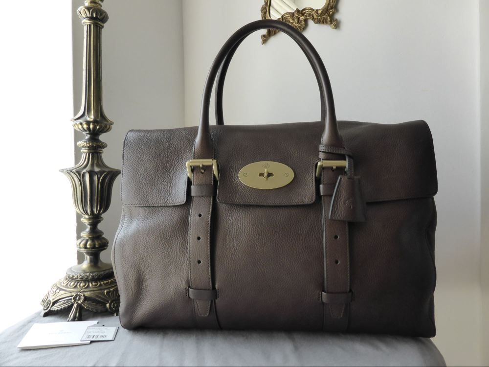 Mulberry Oversized Bayswater in Chocolate Natural Leather