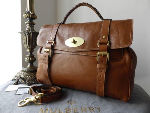 5a7885276515 Mulberry Oversized Alexa in Oak Buffalo Leather - SOLD