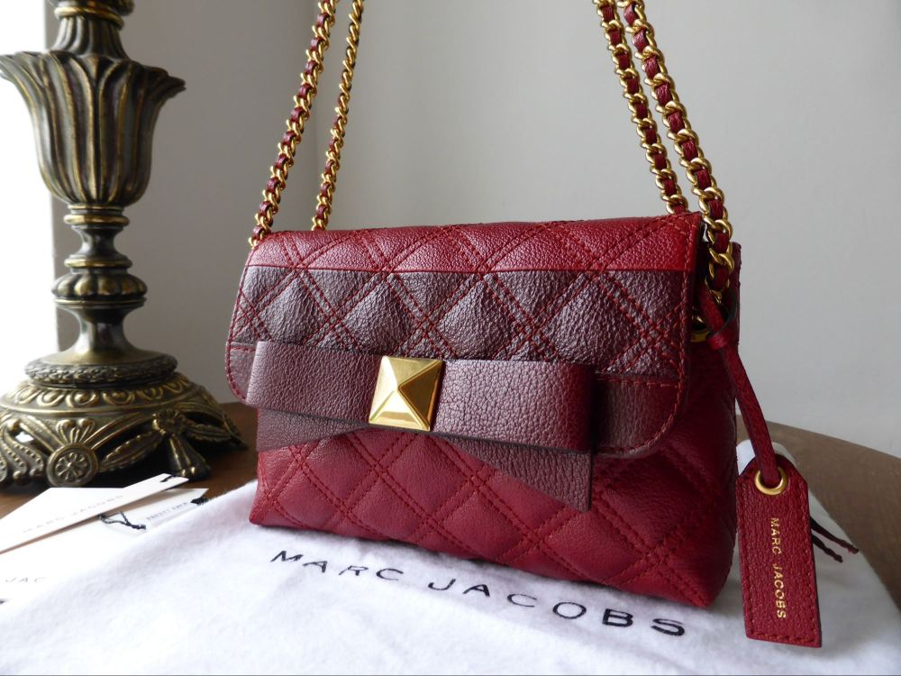 Marc Jacobs Small 'The New Single' in Red Quilted Grainy Calfskin