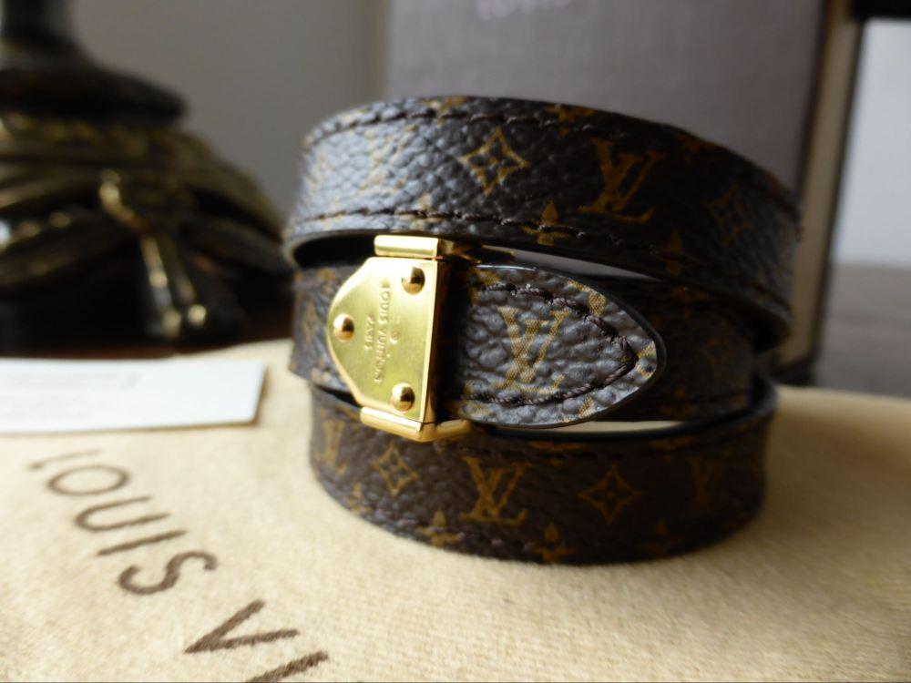 Louis Vuitton Box It Wrap Bracelet in Nano Monogram / Black Calfskin