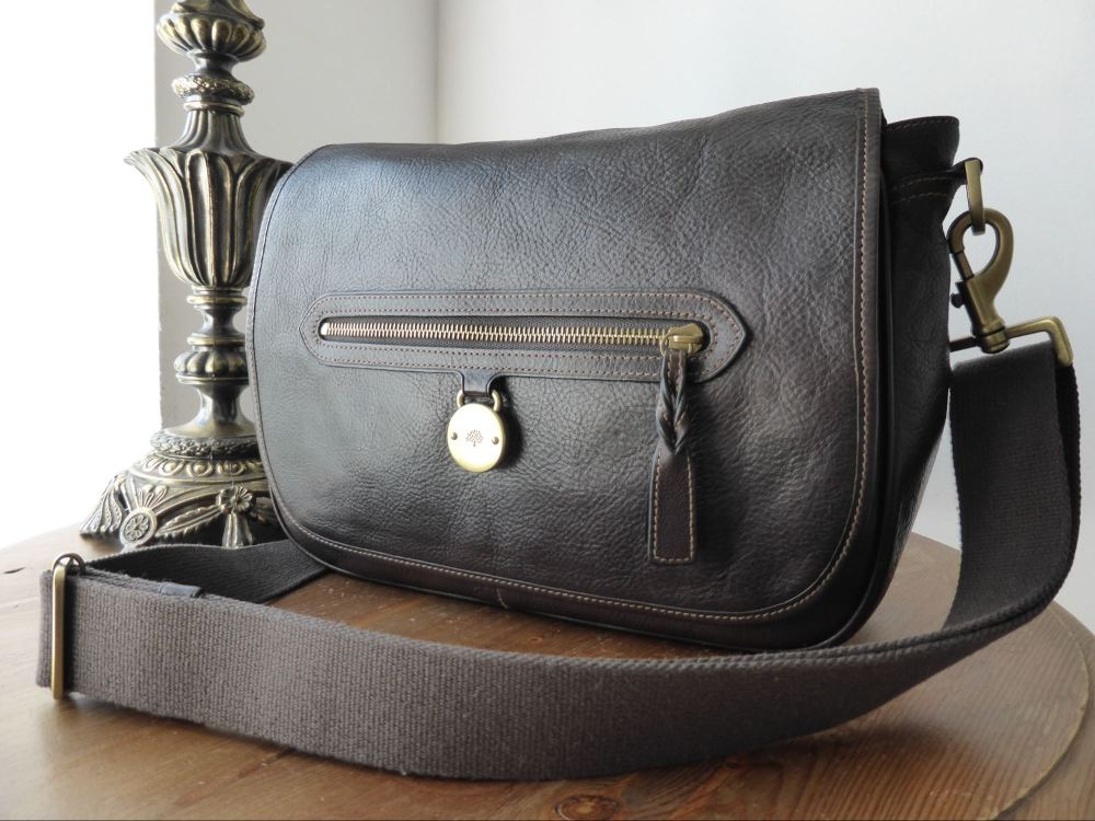 Mulberry Somerset Despatch Satchel in Chocolate Tumbled Leather