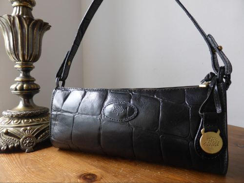 Mulberry Vintage Westbourne Baguette Bag in Black Congo Leather ... db07af16a220e
