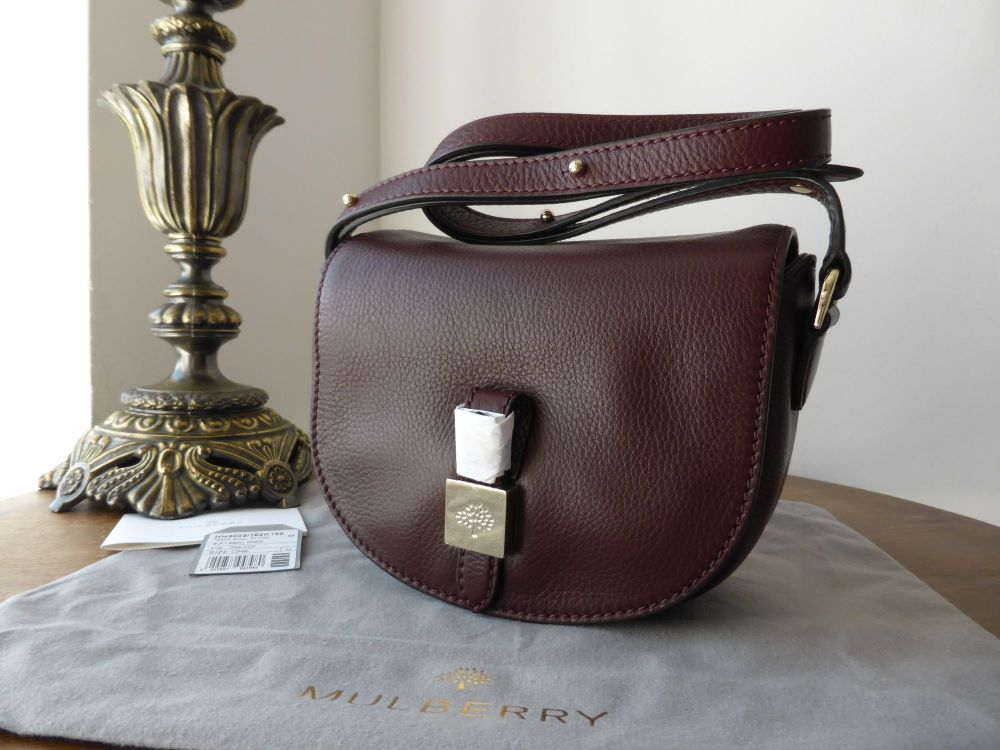 Mulberry Tessie 'Mini' Satchel in Oxblood Soft Small Grain Leather - New