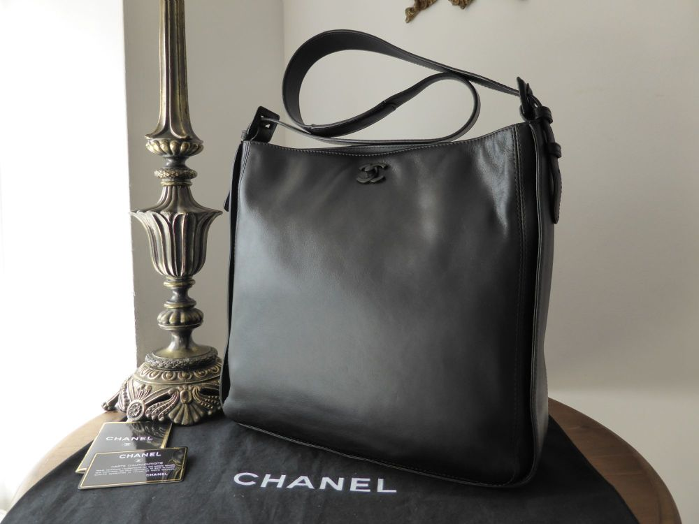 Chanel 'So Black' Messenger Bag in Smooth Black Calfskin