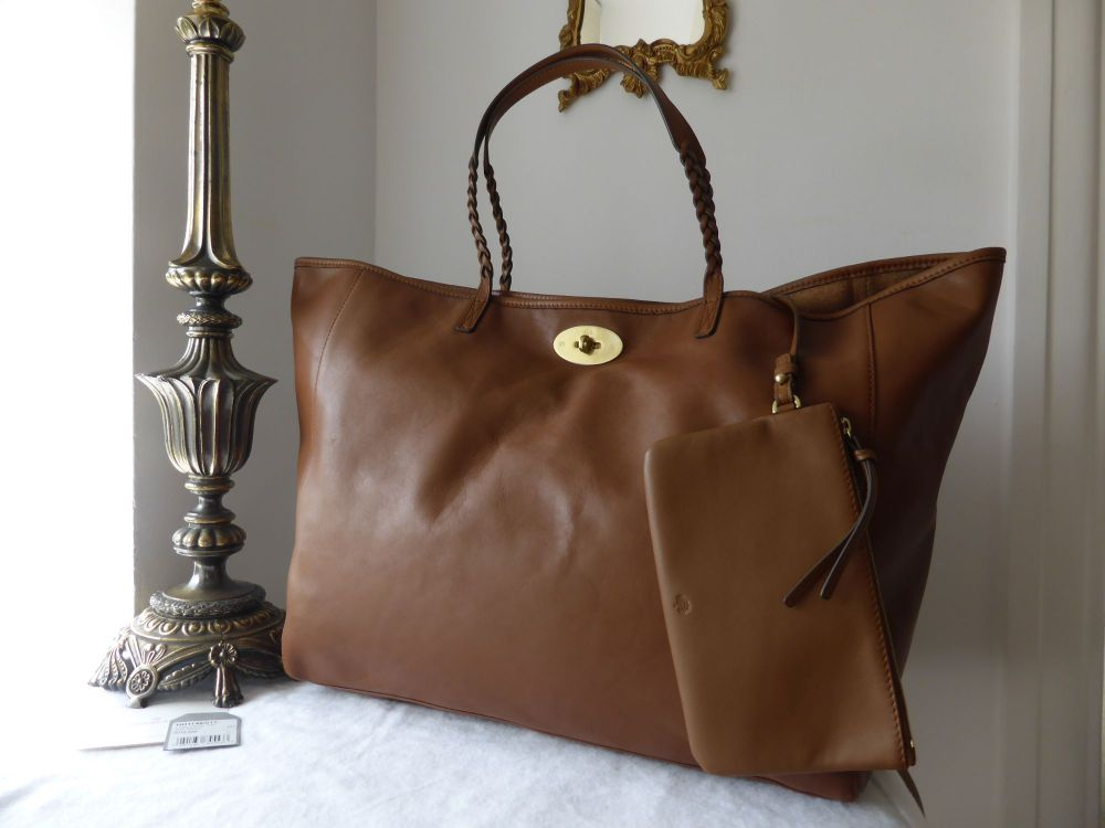Mulberry Large Dorset Tote in Oak Soft Nappa Leather