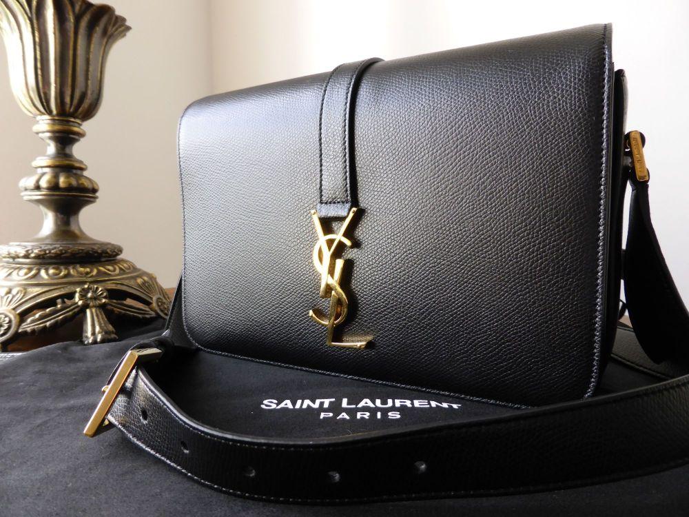 Saint Laurent Monogramme Université Black Leather Shoulder Bag - New*