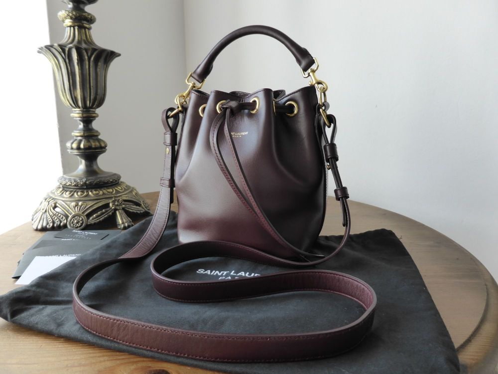 Saint Laurent Emmanuelle Small Bucket Bag in Bordeaux