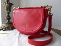 Mulberry Small Effie Satchel in Red Spongy Pebbled Leather - As New